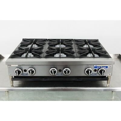 "Used Garland UTOG36-6 36"" 6 Burner Gas Hotplate"