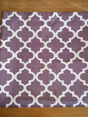 Purple Moroccan Tile Quatrefoil  72-Inch by 72-Inch Shower Curtain