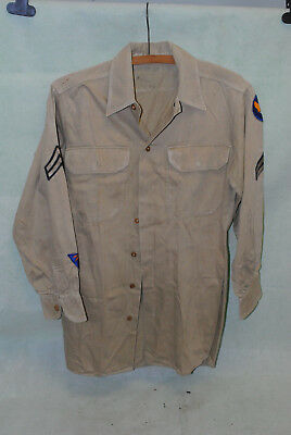 WW2 US Army Air Corp USAAC shirt with patches 04-001
