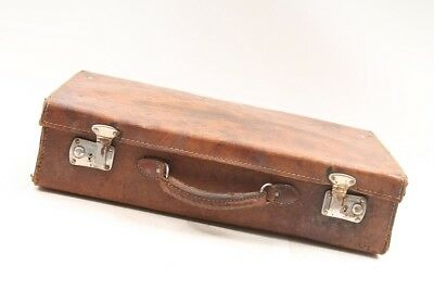 Old Suitcase Travel Cases 50er The 60er Leather Brown Iconic Retro Design