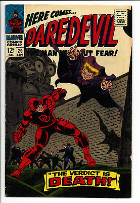 Daredevil #20 FN W pgs Owl appearance Gene Colan art Original owner collection