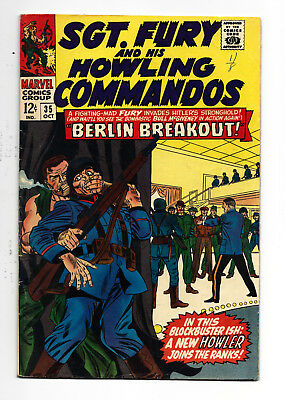 Sgt. Fury and his Howling Commandos #35 5.5 OW-W Hitler on cover