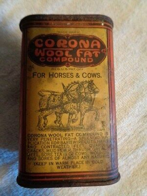 Corona Wool Fat Compound Tin For Horses and Cows Advertising Farm Veterinary