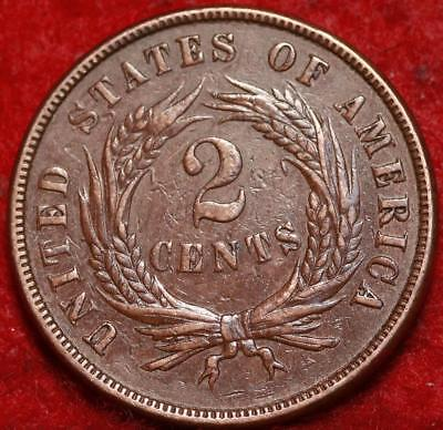1870 Copper Philadelphia Mint Two Cent Coin