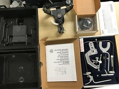 Hanau Wide-Vue Articulator and Spring-Bow Facebow Whip Mix Arcon Mounting Plates