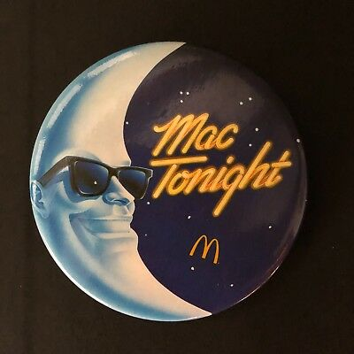 McDonald's vintage MAC TONIGHT button pin 1980s fast food collector's item!