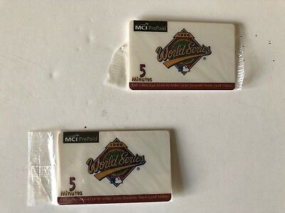 1996 World Series MCI Prepaid phone cards. Unused and still in original package.