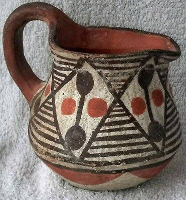 Old Laguna Pottery Pitcher Indian Native American Traditional Design