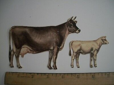 Vintage De Laval Advertising Cream Milk Separator Cow Calf Paper Swiss Jersey