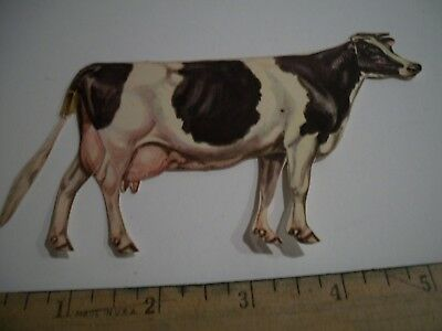 Vintage De Laval Advertising Cream Milk Separator Cow Only Paper Holstein Black