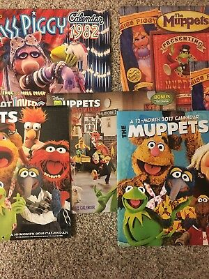 The Muppets 6 CALENDARs 1982,(2)2014 ,2015, 2016 and 2017 Lot