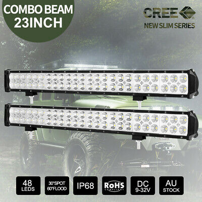2x 23 inch 336W CREE LED Light Bar Spot Flood Combo 4x4 Work Driving Offroad 22""