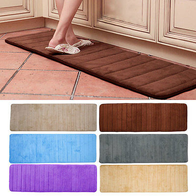 Absorbent Memory Foam Bath Bedroom Bathroom Kitchen Floor Shower Mat Rug  Gift