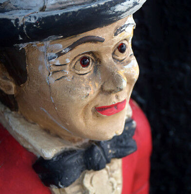 Early 20th Century French Bakery Shop Advertising Hand Carved Wooden Figure