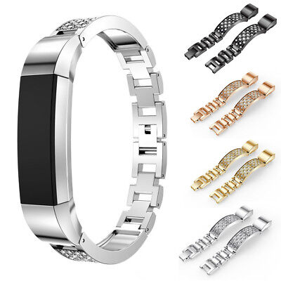 Replacement Stainless Steel Adjustable Wrist Watch Band Strap For Fitbit Alta HR