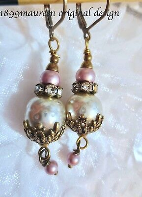 Art Nouveau Art Deco earrings Victorian earrings baroque pearl vintage style