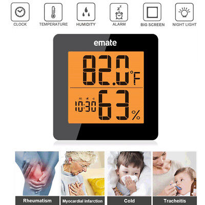 Indoor Outdoor Digital Thermometer Hygrometer / Humidity Temperature Monitor