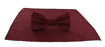 Michelsons of London Semi Plain Bow Tie & Pocket Square Sets