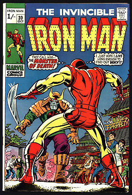 Iron Man #30 Oct 1970. Don Heck Art, Great Value, Lovely White Pages!