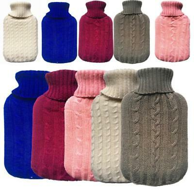 2000ml Knitted Hot Water Bottle Cover Case Heat Warm Keeping Coldproof 31*20cm