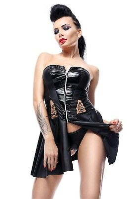 Demoniq Damen Minikleid mit String im Wetlook
