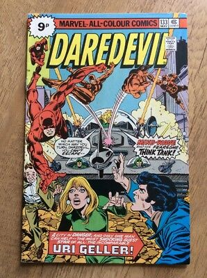 Daredevil #133 - Vfn Condition - Uri Geller Appearance - Marvel Comics May 1976