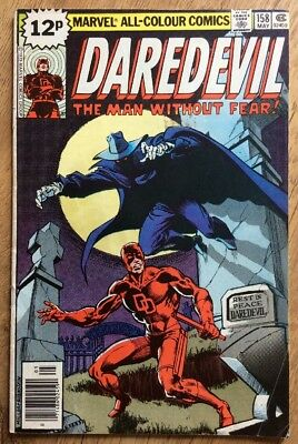 DAREDEVIL #158 - FINE+ CONDITION - 1st FRANK MILLER - MARVEL COMICS MAY 1979