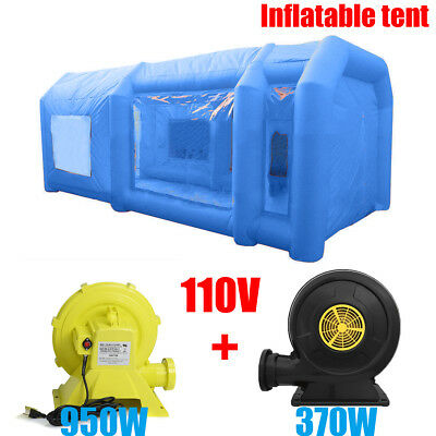 8M/12M Giant Car Workstation Inflatable Paint Tent Spray Paint Booth & 2 Blower