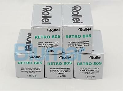 5x Rollei RETRO 80s 35mm 36 exp B&W film, fine grain,IR capabilities 10-2022
