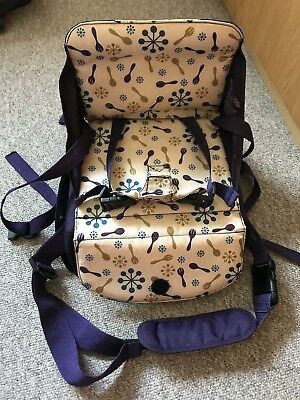 Munchkin purple adjustable travel booster seat / portable high chair