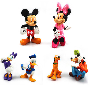 6Pcs Mickey Mouse Clubhouse Figures Collection Set PVC Toys Playsets Cake Topper