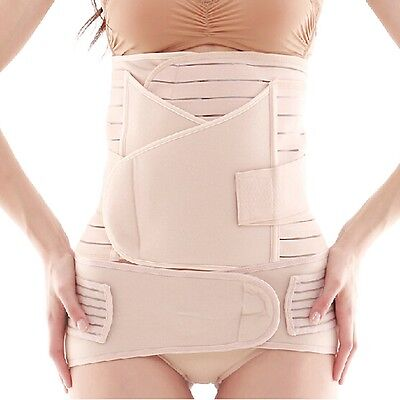 3 in1 Postpartum Recovery Belt Pregnancy Girdle Tummy Band Slim Waist Wrap Belly