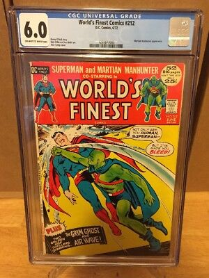 Worlds Finest #212! CGC 6.0! Martian Manhunter And Superman Appearance! Rare!
