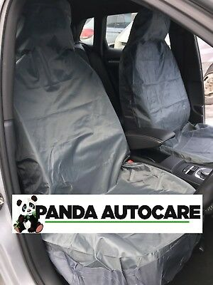 Toyota Yaris (2011-Date)HEAVY DUTY WATERPROOF GREY CAR VAN SEAT COVERS PAIR 1+1