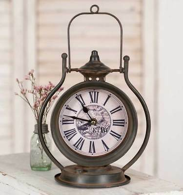 Weathered Rustic Retro Lantern Tabletop Clock - Special SALE Order NOW
