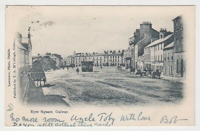 Galway - Eyre Square + carts 1903 (Lawrence / McCullagh) postcard Ireland