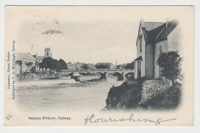 Galway - Salmon fishery 1903 (Lawrence / McCullagh) postcard Ireland
