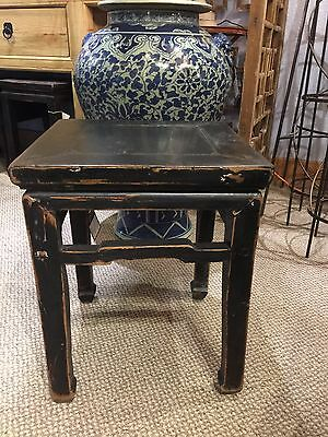 Antique Chinese Ming Style Table Elm Wood Table 20 Inch Tall