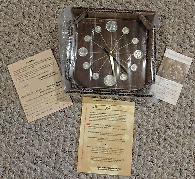 Last United States Silver Coinage Clock 1964 Marion-Kay New Condition