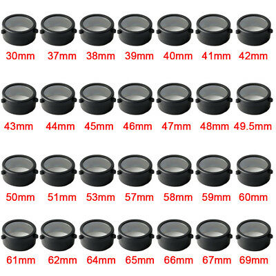 Transparent Color Rifle Scope Cover Flip Up Black Cap Open Objective Lens Eye