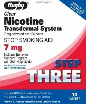 Rugby Clear Nicotine Transdermal System, 7 mg *Compare to Habitrol*