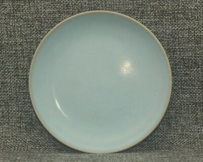 Rare Old China Pottery Dish Collection Ru Kiln Cyan Celadon Porcelain Plate A46