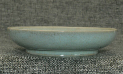 Unique Old Chinese Dish Collection Ru Kiln Cyan Celadon Porcelain Plate A47