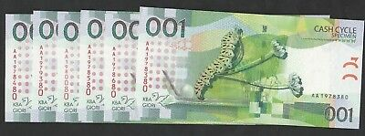 6 Pcs Of 001 Cash Cycle From Switzerland Unc
