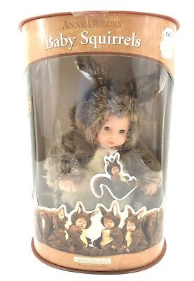 Brand New Anne Geddes Signature Series Baby Squirrels Plush Doll