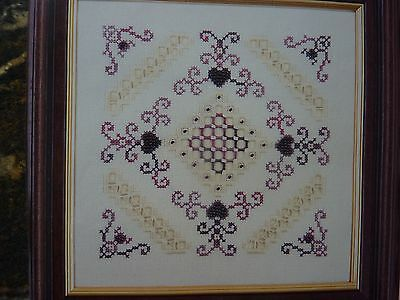 [091]Chart for Hardanger Panel with Beads by Mary Hickmott