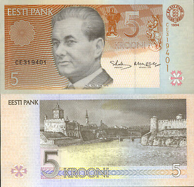 Estonia 5 Kroon (1994) - Chessboard/Fortress/p76 UNC