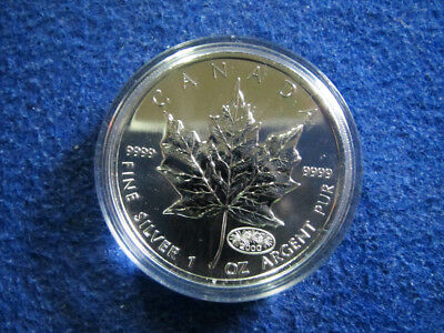 2000 Canada Silver Maple Leaf $5 - Fireworks Privy - Capsule - Free U S Shipping