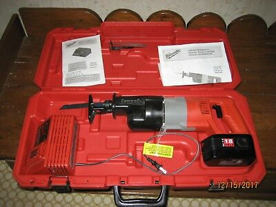 Milwaukee Electric 6515-20 Sawzall Heavy Duty 18V Nicad Battery + Case + Charger
