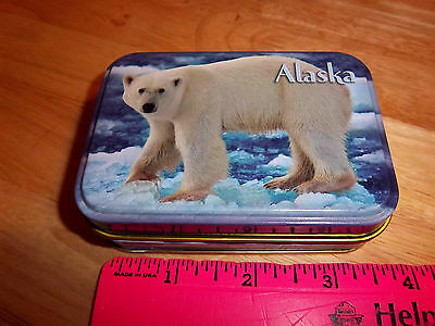Beautiful Polar Bear Photograph Alaska Playing Cards in Tin case